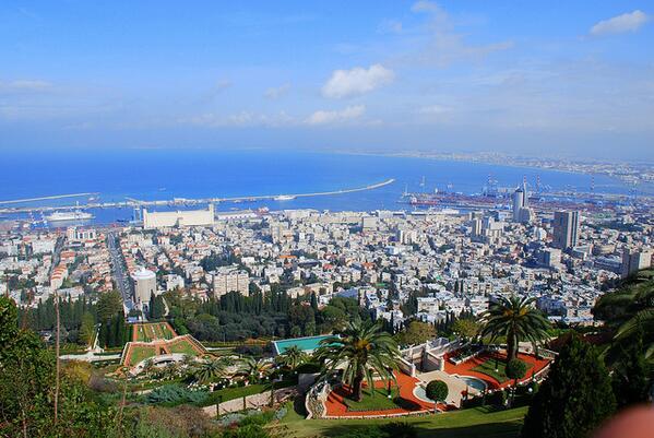 Vue aérienne de Haifa......